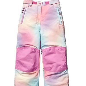 Girls' Water-Resistant Ombre Pink Snow Pants NWOT